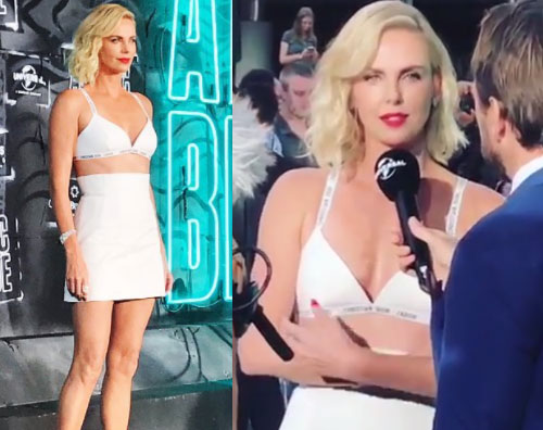 "Charlize Theron Charlize Theron presenta ""Atomic Blonde"" a Berlino"