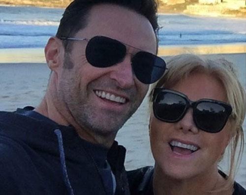 Hugh Jackman Hugh Jackman, selfie con la sua Deborra  Lee
