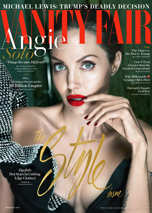angelina jolie 0917 Vf cover Angelina Jolie parla del divorzio da Brad Pitt su Banity Fair