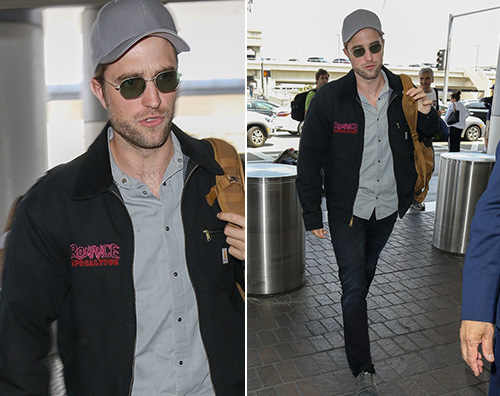 roBERT pattinson Robert Pattinson in partenza al LAX
