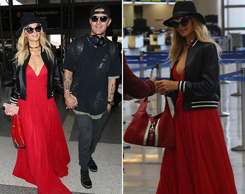 Paris Hilton Paris Hilton in aeroporto con Chirs
