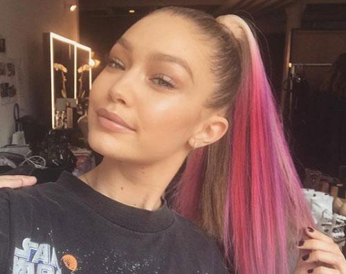 Gigi Hadid Gigi Hadid si è fatta i capelli rosa