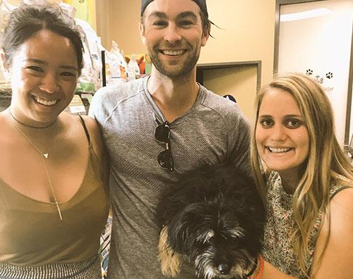 Chace Chace Crawford ritrova il suo cane grazie ai social