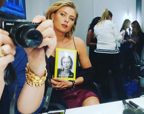 "Maria Sharapova Maria Sharapova presenta ""Unstoppable"", la sua autobiografia"