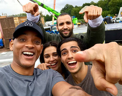 Will Smith Will Smith, prima foto col cast di Aladin