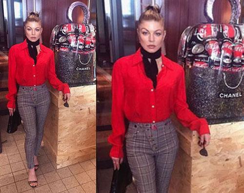 Fergie Fergie in tiro da Chanel