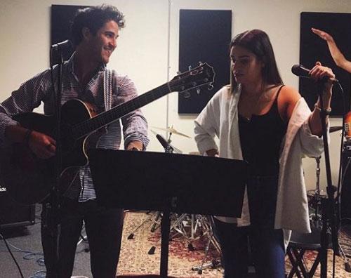 Lea Michele Lea Michele e Darren Criss, reunion in sala prove