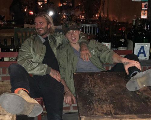 David e Brooklyn Beckham Serata padre  figlio per David e Brooklyn Beckham
