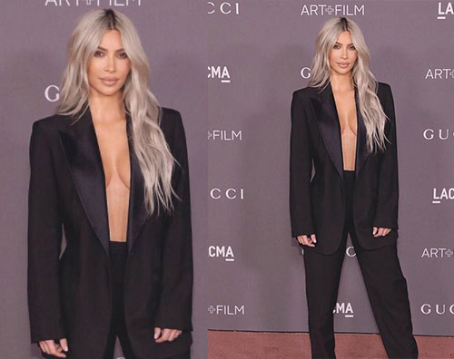Kim Kardashian Kim Kardashian hot all'evento LACMA