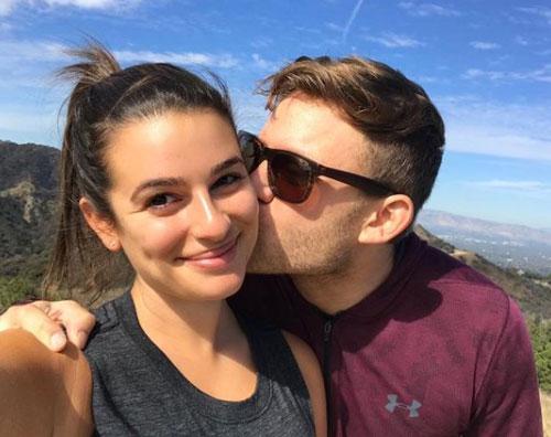 Lea Michele Lea Michele felice col suo Zandy