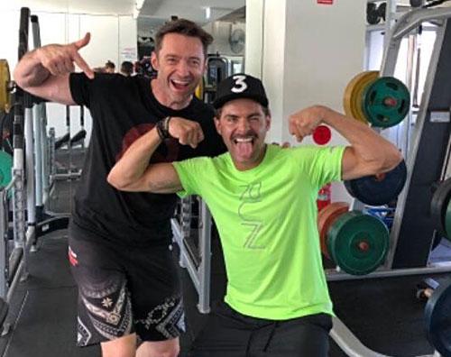 Hugh Jackman Zac Efron Zac Efron e Hugh Jackman si allenano insieme