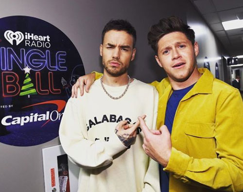 Niall Horan Liam Payne Liam Payne e Niall Horan, reunion al Jingle Ball