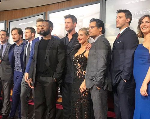 "Chris Els Chris Hemsworth ed Elsa Pataky presentano ""12 Strong"" a New York"