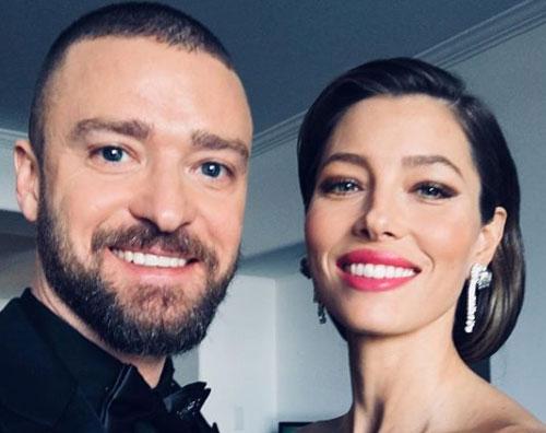 Jessica Biel Justin Timberlake Justin Timberlake e Jessica Biel, selfie prima dei Golden Globes