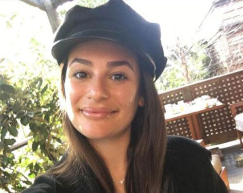 Lea Michele Primo selfie dell'anno per Lea Michele