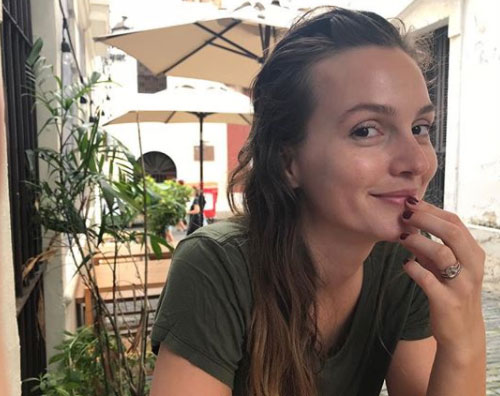 Leighton Meester Leighton Meester senza trucco su Instagram