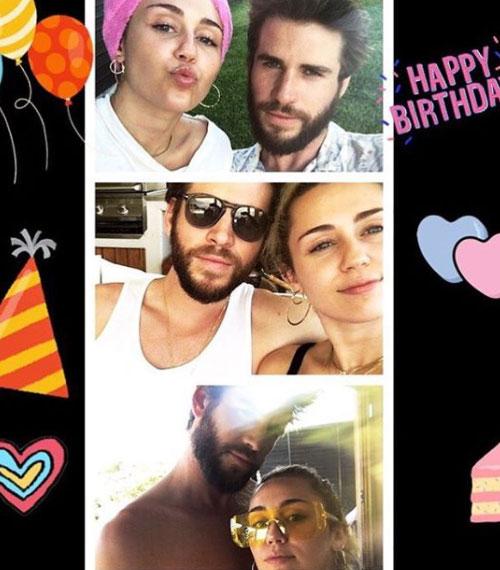 Liam Miley Miley festeggia il compleanno di Liam su Instagram