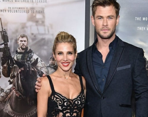"Chris Elsa 2 Chris Hemsworth ed Elsa Pataky presentano ""12 Strong"" a New York"