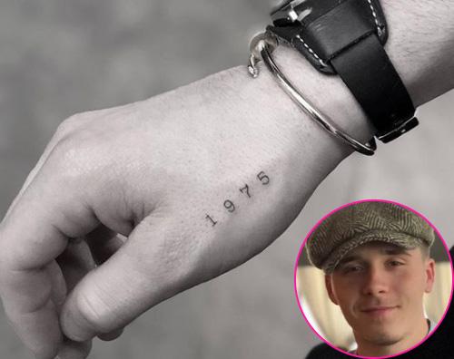 Brooklyn Beckham Brooklyn Beckham un tattoo in onore di papà David