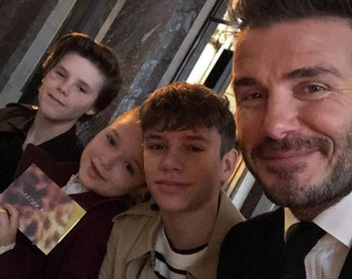 David Beckham Victoria Beckham, la sua famiglia non perde la sfilata di New York