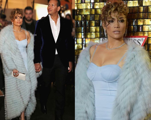 Jennifer Lopez Jennifer Lopez e Alex Rodriguez in tiro per l'evento Guess