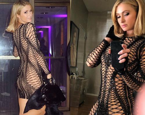 Paris Hilton 4 Paris Hilton sexy al party di Rihanna