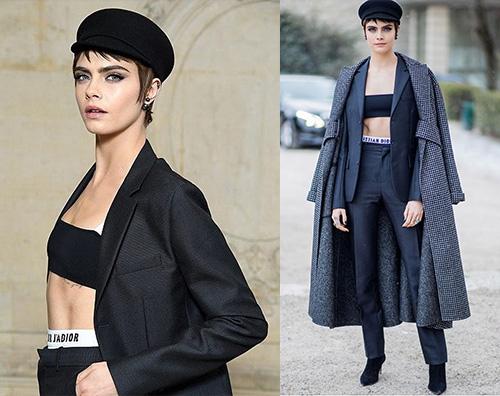 Cara Delevingne Cara Delevingne a Parigi per Dior