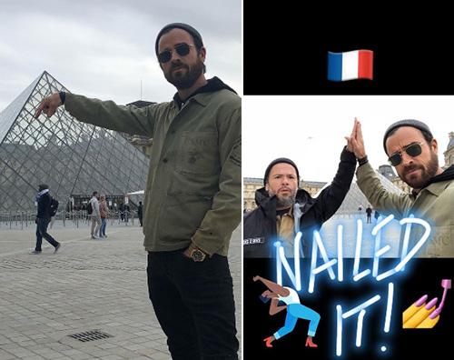 Justin Theroux Justin Theorux si consola a Parigi dopo l'annuncio della separazione