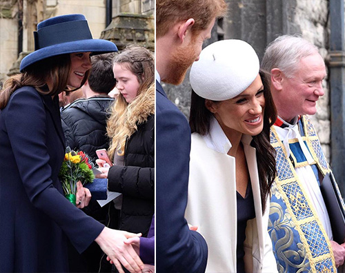 Kate e Meghan 2 Kate e Meghan, scarpe identiche per il Commonwealth Day