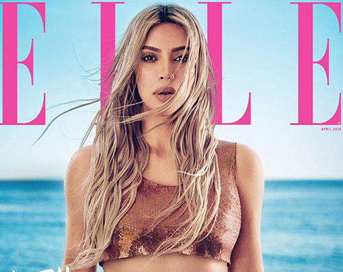 Kim Cover Kim Kardashian è la star di aprile su Elle