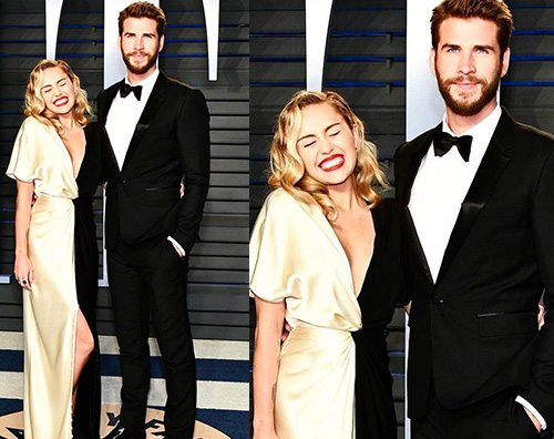 Liam Miley 2 Liam e Miley raggianti durante la notte degli Oscar