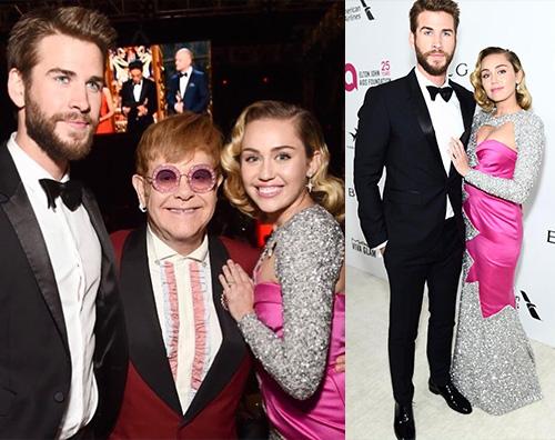 Miley Liam 2 Liam e Miley raggianti durante la notte degli Oscar