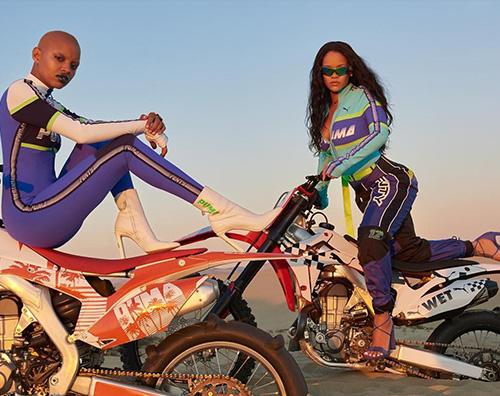 Rihanna 2 Rihanna, motociclista per la campagna pubblicitaria Fenty x Puma