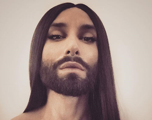 Conchita Wurst, la svolta artistica: capelli e barba incolti