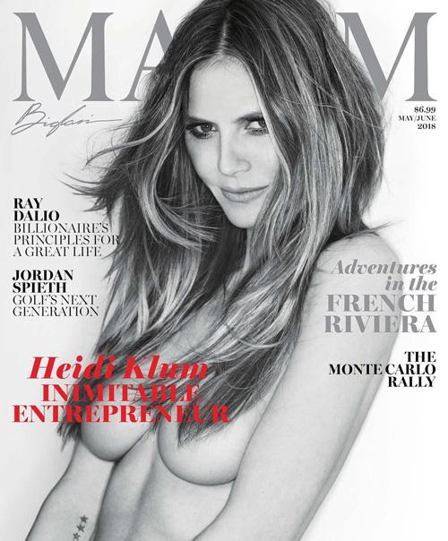 Heidi Klum Heidi Klum in topless sulla cover di Maxim