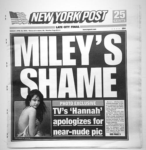 Miley Cyrus Miley Cyrus Non mi dispiace per le foto senza veli fatte a 15 anni