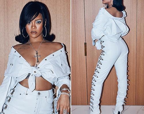 Rihanna 1 Rihanna, look anni '60 per il Coachella
