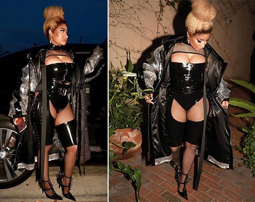 Nicki Minaj Nicki Minaj look fetish per lo Staples Center