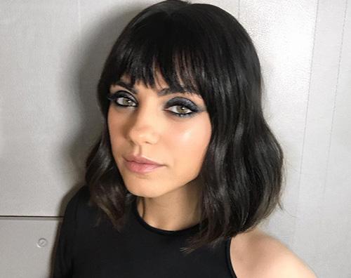 MilaKunis Mila Kunis si è fatta la frangetta