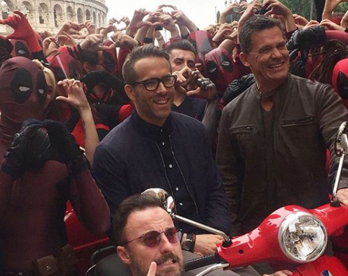 Ryan Reynolds 2 Ryan Reynolds a Roma per Deadpool 2