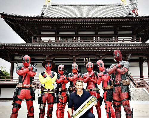 "Ryan Reynolds Ryan Reynolds ha concluso in Giappone il tour di ""Deadpool 2"""
