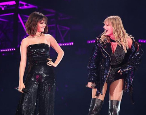 Selena Gomez Taylor Swift Selena e Taylor duettano durante il Reputation Tour
