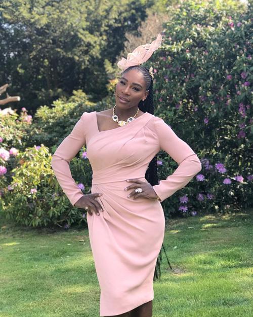 Serena Williams 2 Serena Williams in rosa per il Royal Wedding