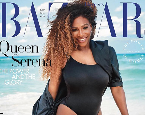 Serena Williams La prova cotume di Serena Williams è su Harper's Bazaar