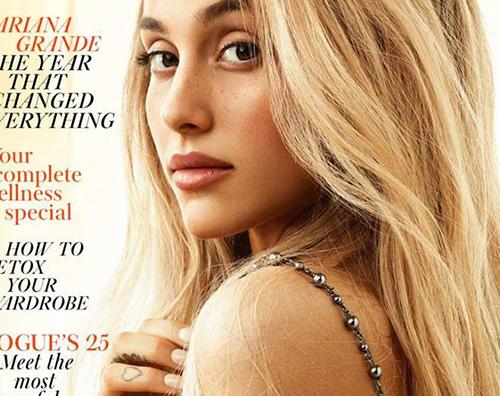 Ariana Grande 2 Ariana Grande irriconoscibile sulla cover di Vogue UK