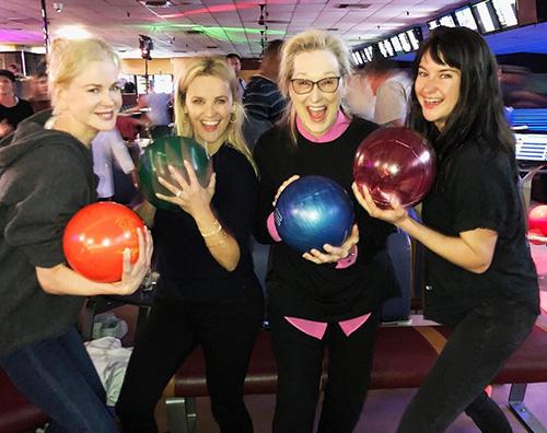 Big Little Lias Reese, Nicole, Shailene e Meryl si sfidano a bowling