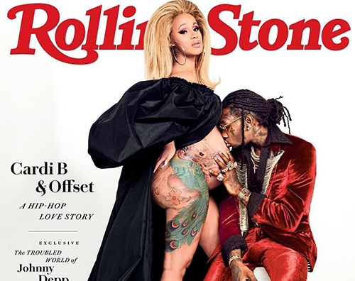 Cardi B Cardi B incinta e senza veli su Rolling Stone