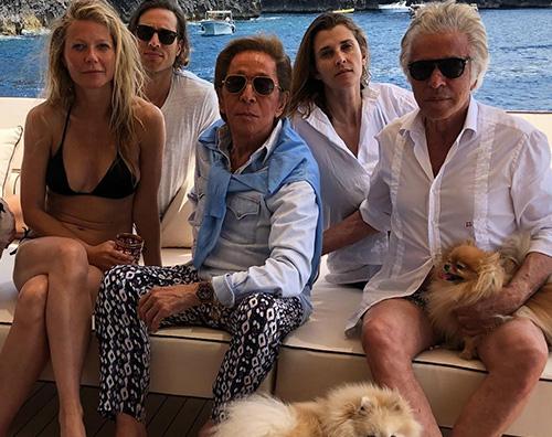 Gwyneth Paltrow Gwyneth Paltrow a Capri con Valentino
