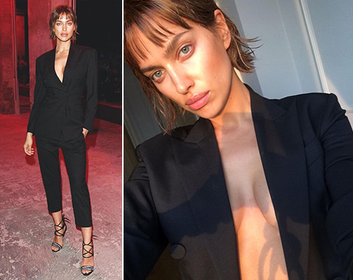 Irina Shayk Irina Shayk, topless e nuovo look per la fashion week