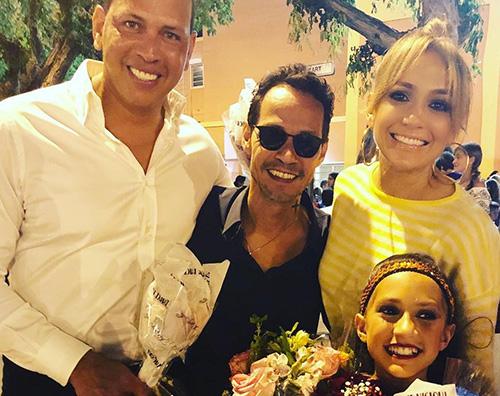 JlO Jennifer Lopez e la sua famiglia allargata su Instagram